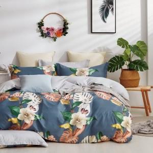 Moderné obojstranné posteľné obliečky s motívom kvetov