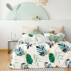 Originálne biele moderné posteľné obliečky s prírodným motivom