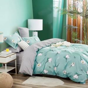 Originálne zelené moderné posteľné obliečky s motívom kvetov