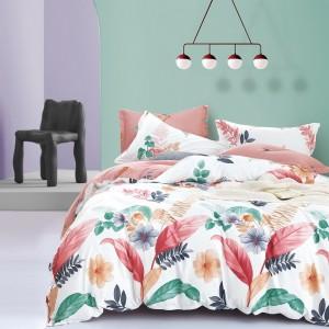 Originálne biele moderné posteľné obliečky s motívom kvetov