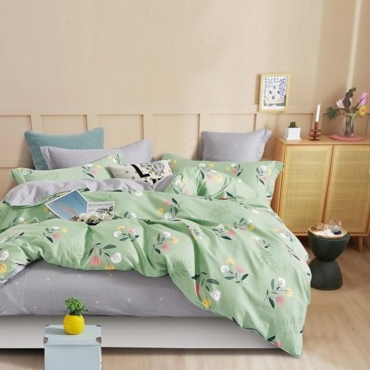 Zelené pohodlné posteľné obliečky