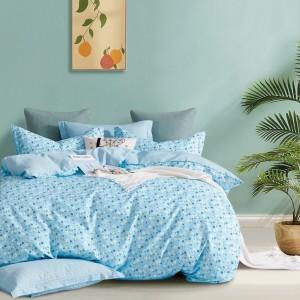 Obojstranné modré posteľné obliečky