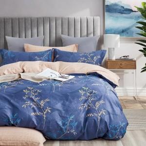 Obojstranné posteľné obliečky v kráľovskej modrej