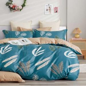 Moderné tyrkysové posteľné obliečky s prírodným motívom