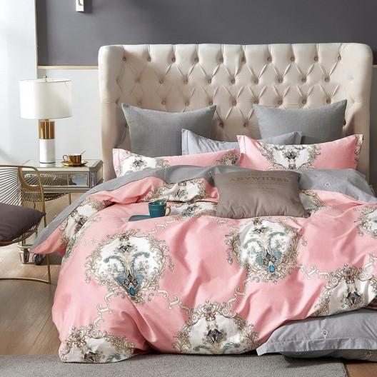 Obojstranné posteľné obliečky rúžovej farby