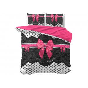 Luxusné bavlnené posteľné ružovo sivé obliečky SWEET DREAMS 200 x 220 cm