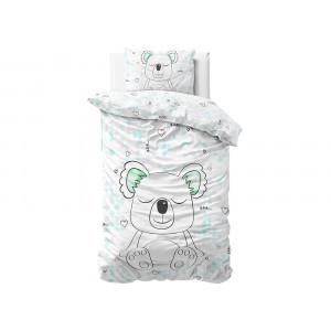 Kvalitné bavlnené detské posteľné obliečky s motívom koaly 140 x 200 cm