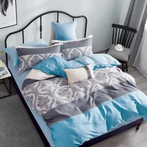 Pohodlné posteľné obliečky sivomodrej farby