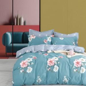 Obojstranné posteľné obliečky s krásnym motívom kvetov
