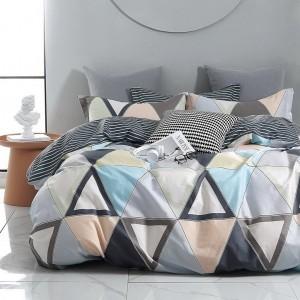 Bavlnené posteľné obliečky s geometrickým motívom