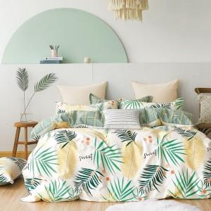 Krásne posteľné obliečky s tropickým motívom