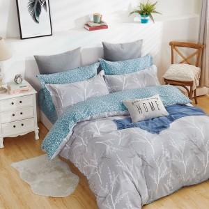 Moderné posteľné obliečky v sivej farbe
