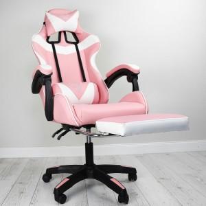 Pohodlné hracie kreslo ružovo bielej  farby