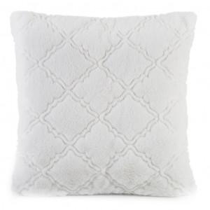 Krásna krémovo biela vzorovaná obliecka na vankúš