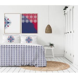 Luxusné béžovo biele posteľné obliečky z bavlneného saténu