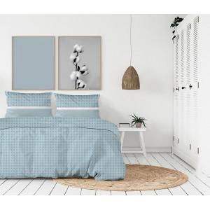 Kvalitné modré posteľné obliečky bavlnený satén v škandinávskom štýle