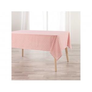 Ružový obrus do kuchyne s decentným vzorom 140 x250 cm