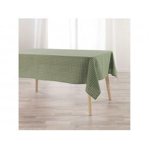 Dekoratívny zelený bavlnený obrus na stôl 140 x 250 cm