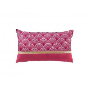 Krásny malinovo ružový dekoračný vankúš v škandinávskom štýle 30 x 50 cm