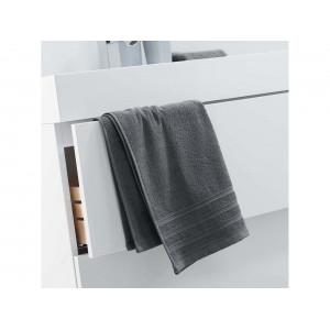 Jednofarebný sivý bavlnený uterák 50 x 90 cm