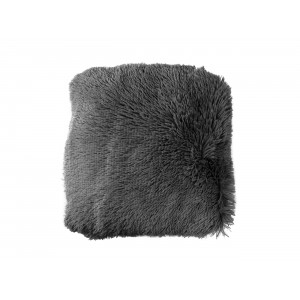 jednofarebná tmavo sivá chlpatá obliečka na vankúš  40 x 40 cm
