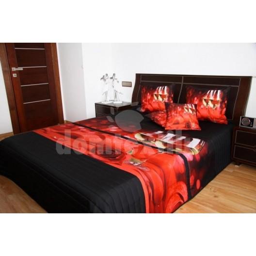 Červený prehoz na posteľ 3D 220x240