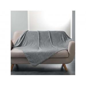 Sivá deka so strieborným vzorom 125 x 150 cm