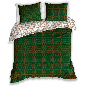 Fenomenálne zelené obojstranné bavlnené posteľné obliečky