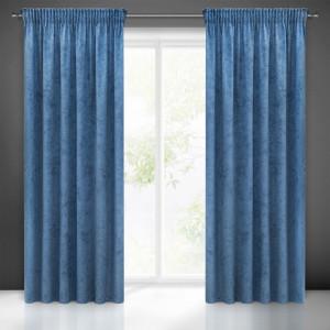 Luxusné závesy modrej farby s jemným vzorom