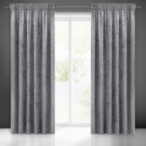 Luxusné závesy šedej farby s jemným vzorom