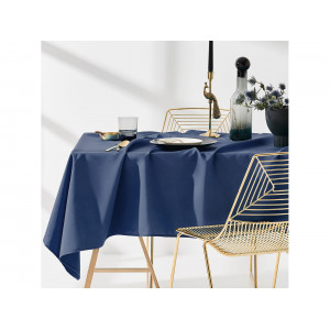 Elegantný tmavo modrý jednofarebný obrus 130 x 180 cm