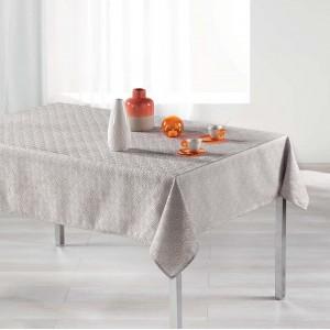 Decentný perleťový vzorovaný obrus na stôl 140 x 300 cm
