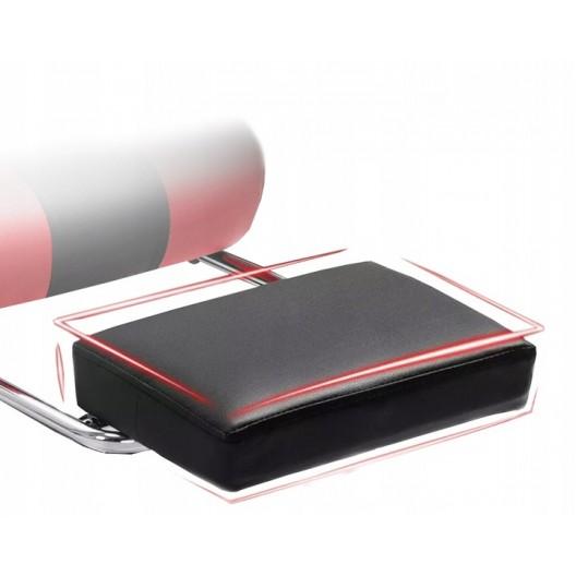 Pohodlné hracie kreslo s masážnym vankúšom  čierno červenej farby