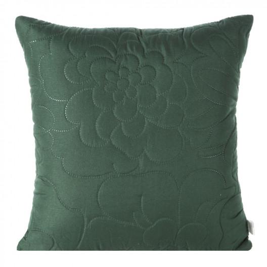 vintage zelená jednofarebná dekoračná obliečka na vankúš