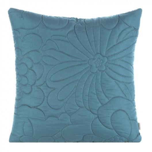 Modrá dekoračná obliečka na vankúš
