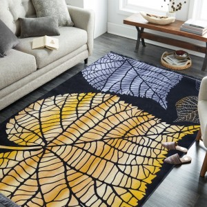 Moderný koberec s listami