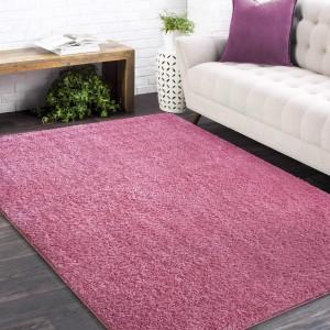 Štýlový koberec v ružovej farbe