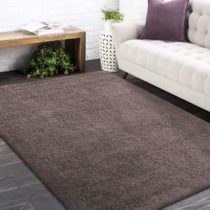 Štýlový koberec v cappuccino farbe