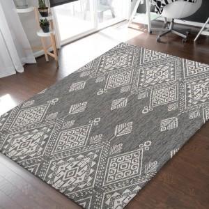 Obojstranný koberec v odtieňoch sivej