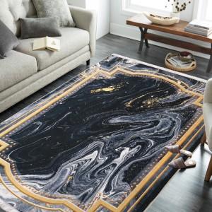 Moderný koberec s abstraktným vzorom