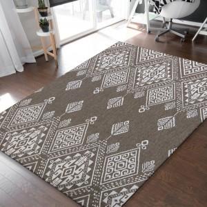 Obojstranný koberec v odtieňoch coffee