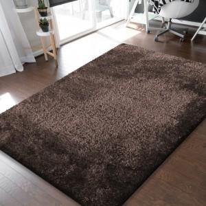 Štýlový koberec v hnedej farbe