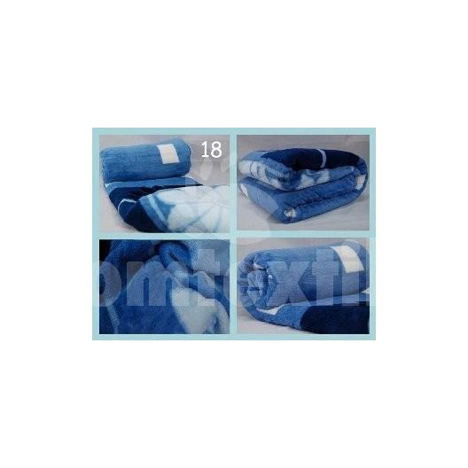 Luxusná deka z mikrovlákna 160 x 210cm svetlo modrá č.18