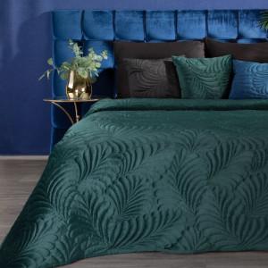 Krásny tyrkysovo zelený jednofarebný prehoz na posteľ