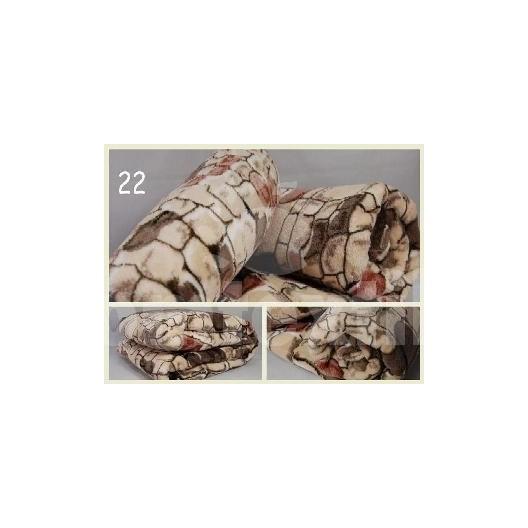 Luxusná deka z mikrovlákna 160 x 210cm kameň č.22