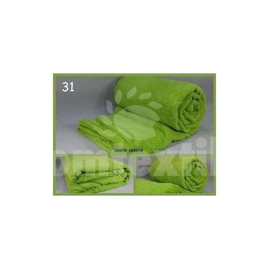 Luxusná deka z mikrovlákna 160 x 210cm jasná zelena č.31
