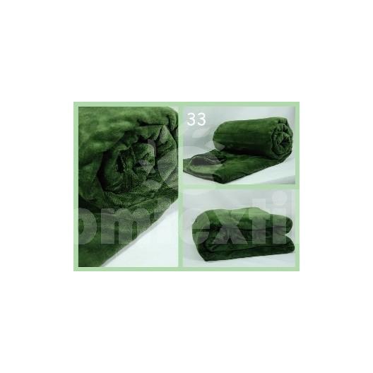 Luxusná deka z mikrovlákna 160 x 210cm zelená frote č.33