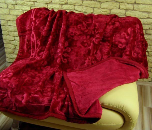 DomTextilu Luxusné deky z akrylu 160 x 210cm bordova č.1 1981-3846