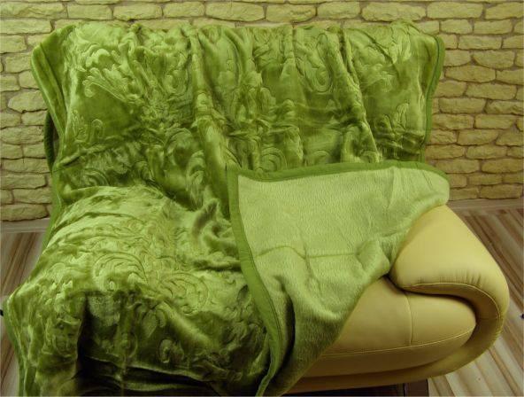 DomTextilu Luxusné deky z akrylu 160 x 210cm zelena č.2 1983-3928