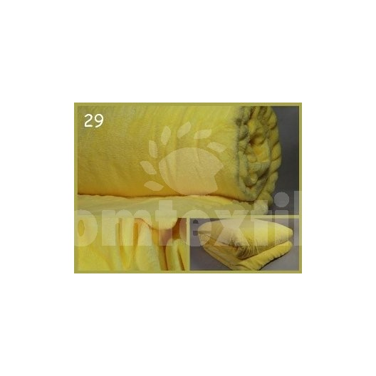 Luxusná deka z mikrovlákna 160 x 210cm svetla žltá č.29